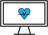 Medical Exam Online monitor with logo